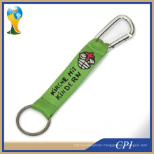 Short Polyester Screen Lanyard with Carabiner Hook